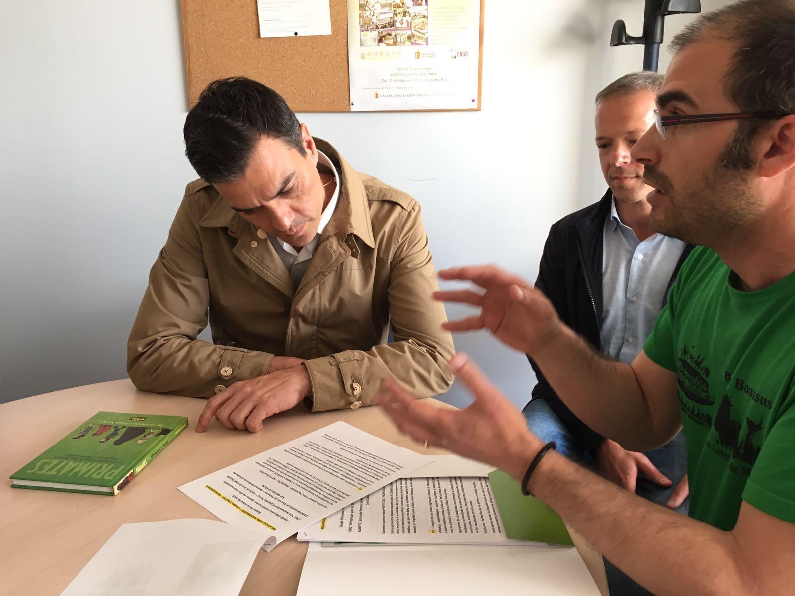 Reunión de Pedro Sánchez con el Comité Internacional del corredor biológico mundial